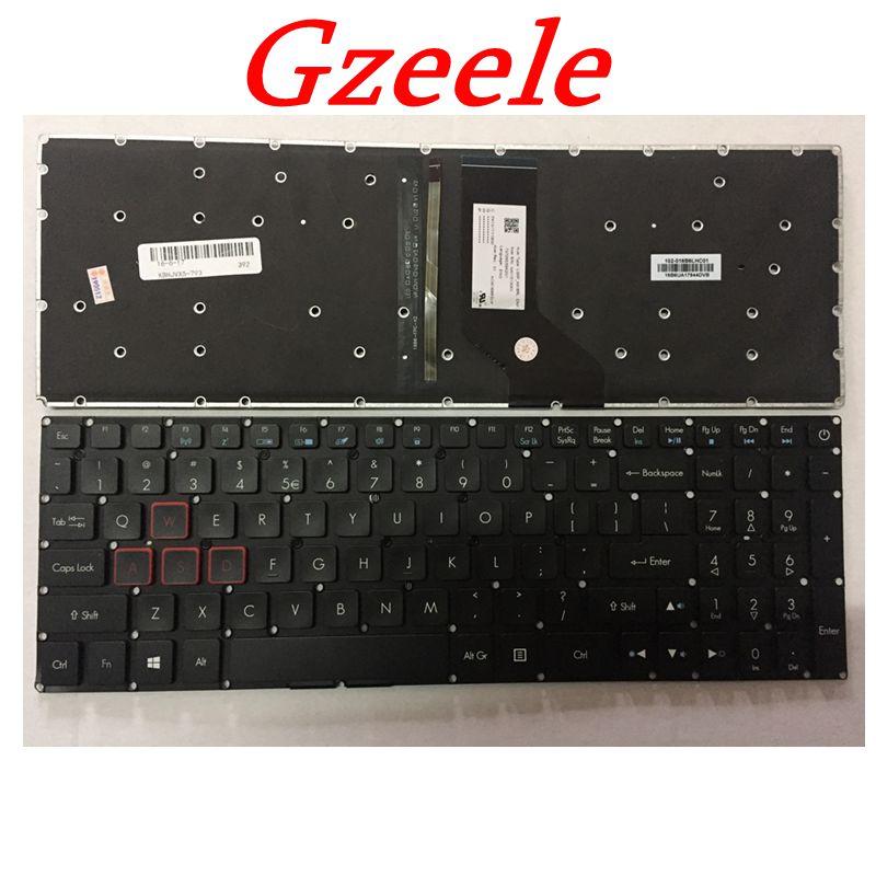 GZEELE Новинка для Acer Aspire VX 15 VX15 VX5-591G VX5-591 VX5-793 VN7-593 VN7-793 клавиатура с подсветкой черный, английский, США