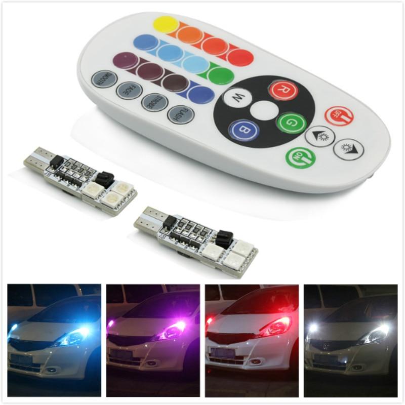 Veilleuse de Parking pour Kia Rio K2 3   2x RGB T10 W5W Canbus, liquidation de Parking pour Kia Rio K2 3 Sportage Soul Cerato Ceed Ford focus 2 Mazda 3 6 8