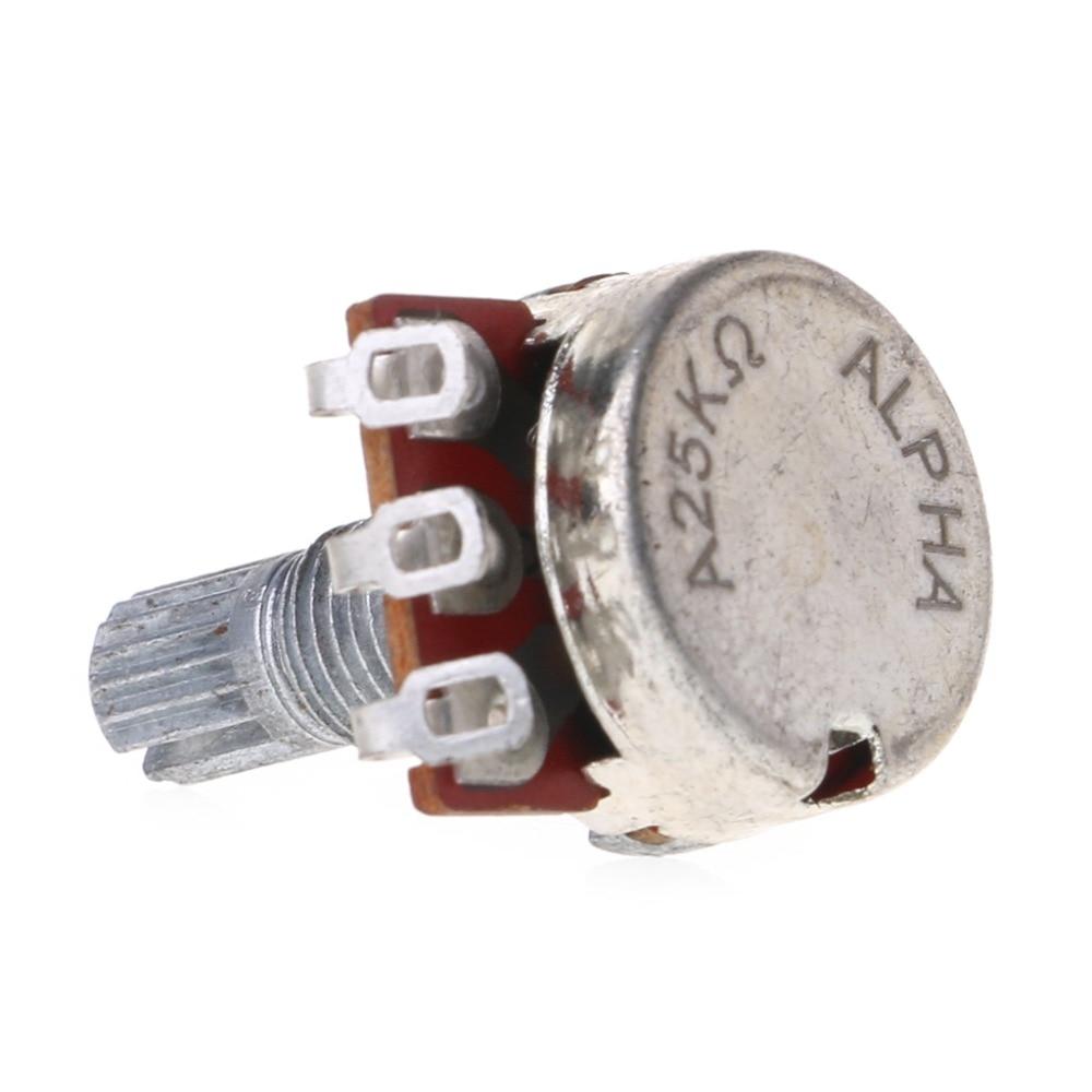 A25K электрический бас потенциометр для гитары Pot Effect Pedal 18 мм детали вала