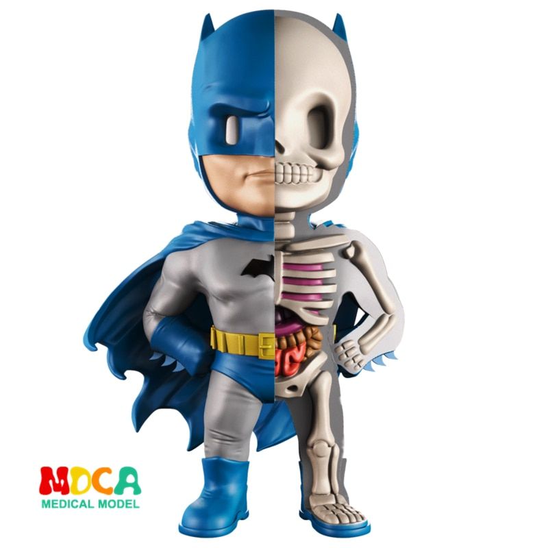 Синий Бэтмен 4D XXRAY мастер могучий джаккс Джейсон фри Анатомия мультфильм орнамент