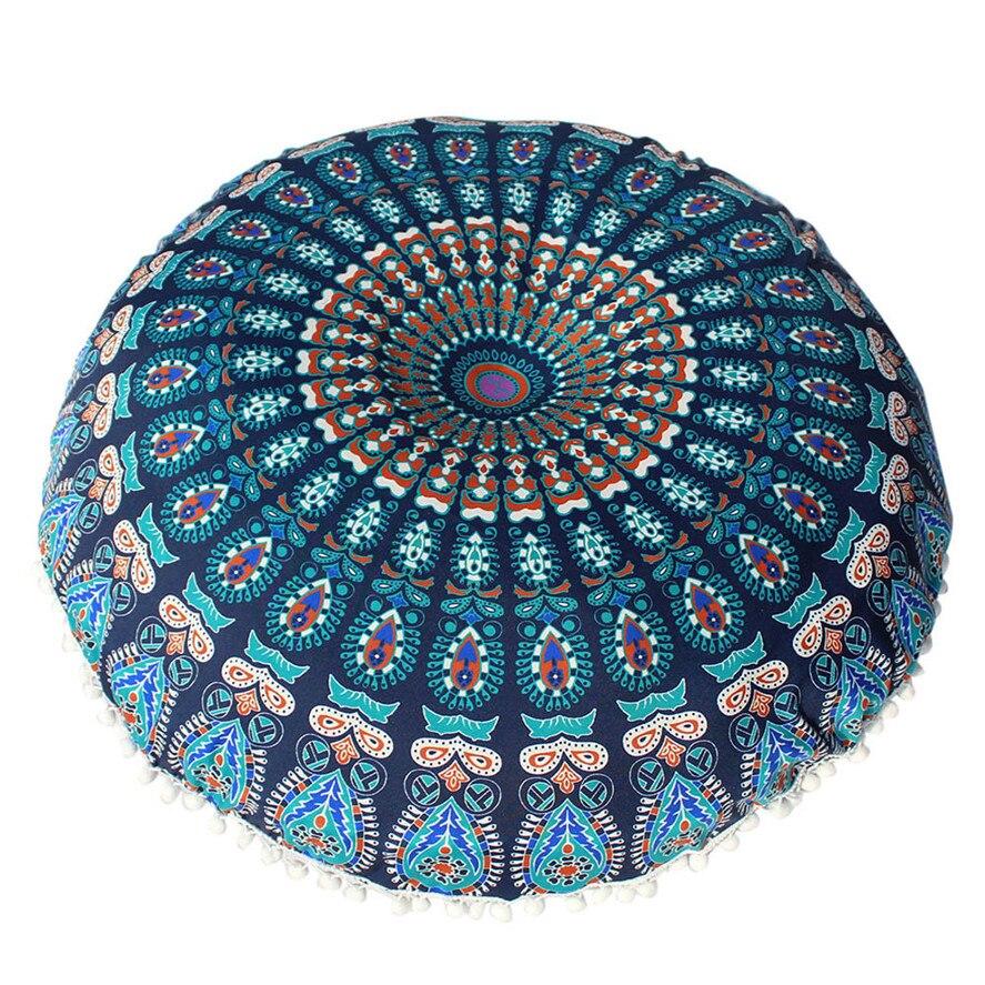 1 funda de cojín con Mandala de 80x80 cm, funda de cojín con meditación Bohemia, funda de almohada con tapiz Retro bohemio, funda de 30