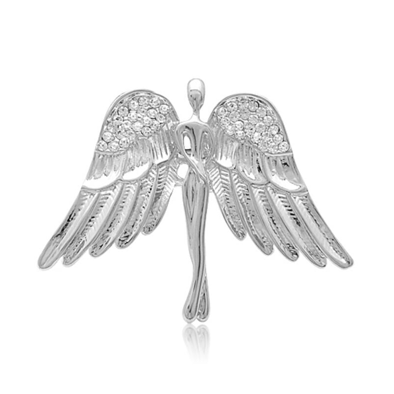 Rhinestone Angel Pin Zinc Alloy Brooches Pin Garment Accessories Russia Jewelry