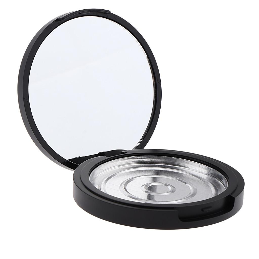 Frasco vacío Pot maquillaje polvo prensado contenedor para almacenamiento de cosméticos Tin Portable-olla de maquillaje multiusos con espejo de tocador