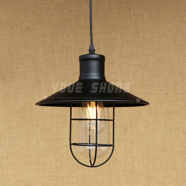 Lámpara de cristal de almacén industrial retro estilo country americano lámpara de hierro forjado bar restaurante e27 220v 110v barra colgante Luz