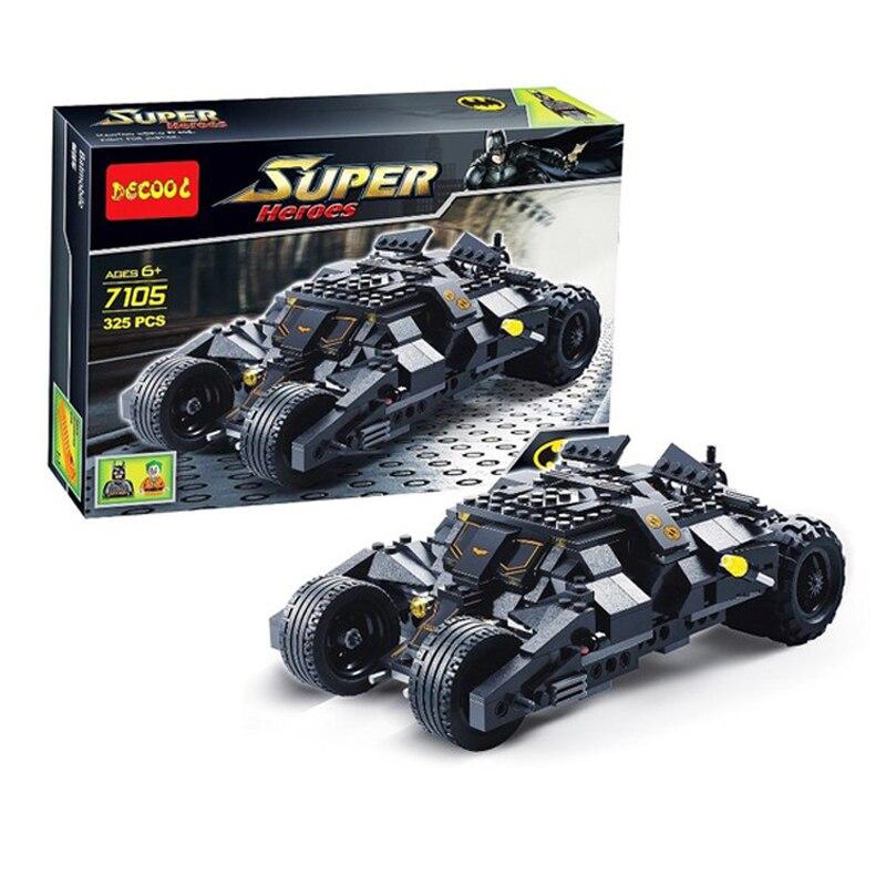 Película de Batman Joker famoso Lowrider Harley Quinn bloques de construcción de ladrillos juguetes Batman 7105