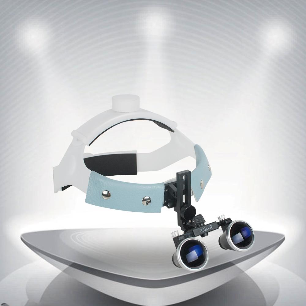 3.5x-r portátil Dental quirúrgico médico diadema Binocular lupas gafas lupa puntos de bala