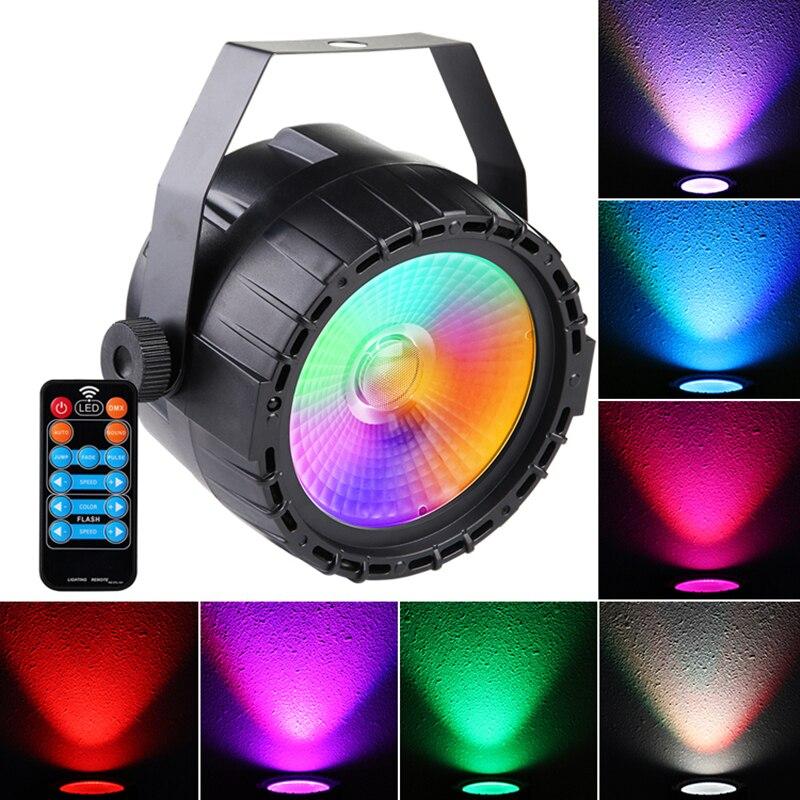 Mini Dmx512 Disco Rgb etapa luz de noche 1 piezas 30 W Cob Led Par luz RGB Control Remoto + + + autopropulsado para DJ Bar fiesta Bar