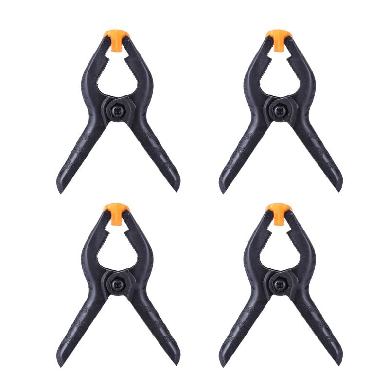 4 unids/lote 2 pulgadas-Tipo de Nylon plástico abrazaderas para pinza de muelle...