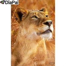 "DIAPAI 5D DIY Diamond Painting 100% Full Square/Round Drill ""Animal lion"" Diamond Embroidery Cross Stitch 3D Decor A22169"