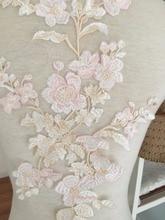 5 piezas Pastel hermoso bordado elegante vestido de boda Prom vestido Apliques de encaje, flor Venecia aplique de tela para ligas