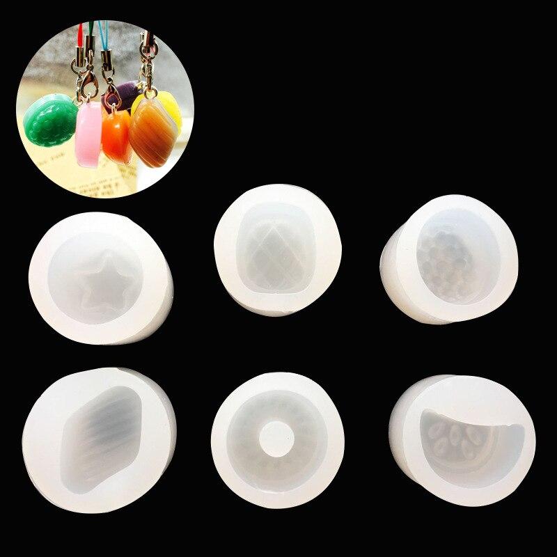 DIY Crystal Drip Mold Fruit Silicone Mold UV Glue Clay Donut Strawberry Watermelon 6 Entry