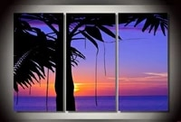 modern oil painting on canvas for home decoration sea sunset landscape painting