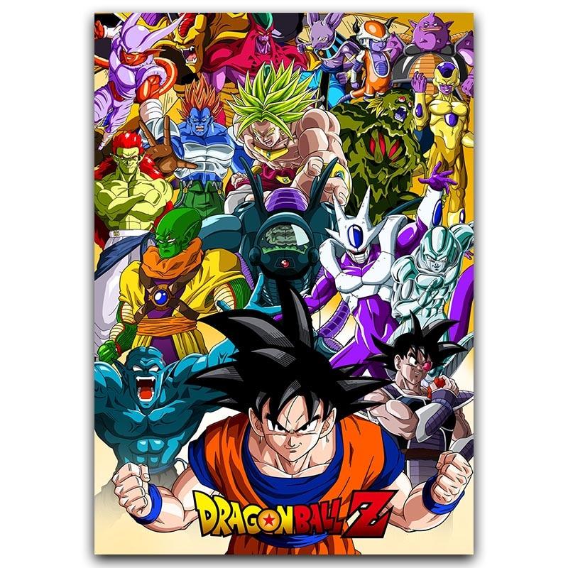 Póster Goku de Dragon Ball Z, Póster Artístico clásico de seda de Anime, cuadros de pared japoneses nuevos de Anime para decoración de pared del hogar