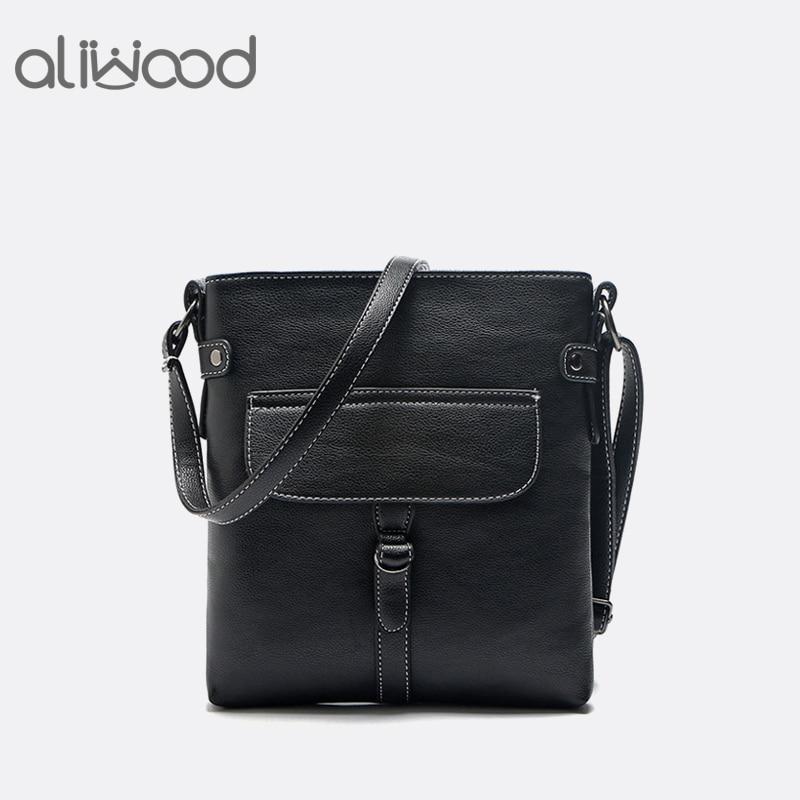 ¡Novedad! Bolso de verano Aliwood de piel sintética, bolso de hombro femenino sencillo e informal con hebilla para cinturón, bolso bandolera, Bolsas