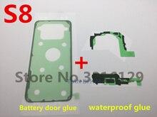 10 مجموعة الأصلي ملصق الخلفي الخلفي غطاء البطارية قضية الباب لاصق لسامسونج غالاكسي s7 S8 s8 + حافة نوت 8 شريط مضاد للماء الغراء