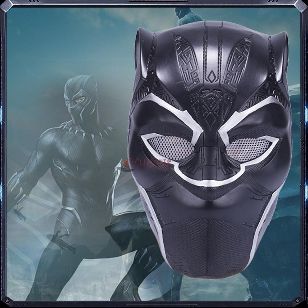 Black panther cosplay máscara pvc capacete para halloween natal venda quente