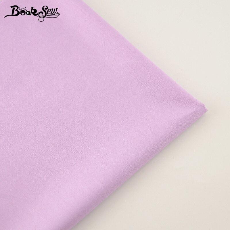 Material textil para el hogar, 100% de costura de alta calidad, Tela de algodón, Tela clásica de sarga de Color púrpura claro, Tela de cama, Patchwork de decoración