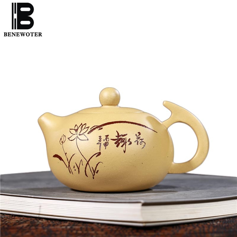 Tetera de arcilla púrpura auténtica Yixing de 280 CC, trabajo hecho a mano, tetera Duan Mud Zisha, tetera de oficina, regalos para teteras Tieguanyin Puer