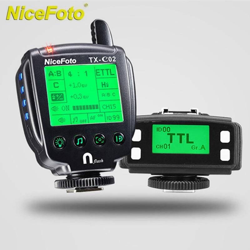 NICEFOTO 3 groups/15CH/99ID TTL Wireless Flash Trigger 1/8000S Sync Shutter For Canon For Nikon Trigger Studio Flash Speedlite