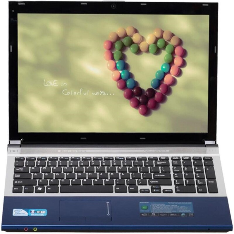 "8G RAM + 60G SSD + 500G HDD Intel Core i7 CPU Intel Gráficos HD de juego portátil de 15,6 ""LED 1920x1080P Windows 10 cuaderno con DVD-RW"