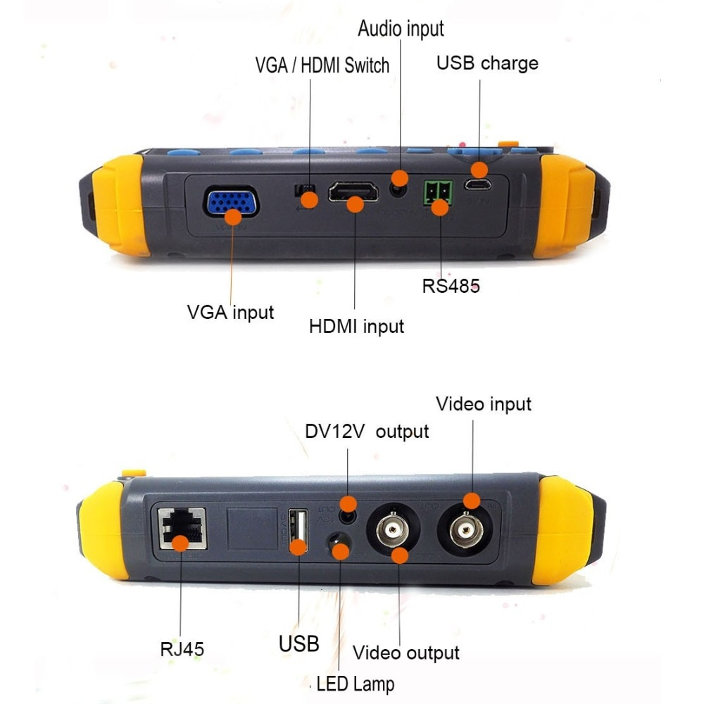 DHL Free Portable 4 in 1 AHD TVI CVI CVBS CCTV Camera Tester Monitor IV8W IV8C Support PTZ controller UTP cable test Audio test enlarge