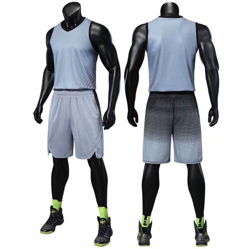Conjuntos de camisetas de baloncesto de talla grande para hombre, conjuntos de jersey de entrenamiento en blanco, chándales transpirables, uniformes para equipo de baloncesto para adultos, personalizados