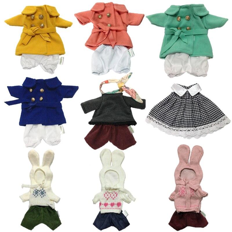 30cm ropa para muñecas conejito gatos osos oso peluche juguete 1/6 BJD ropa muñecas sudadera rompevientos ropa niña juguetes para niños regalos