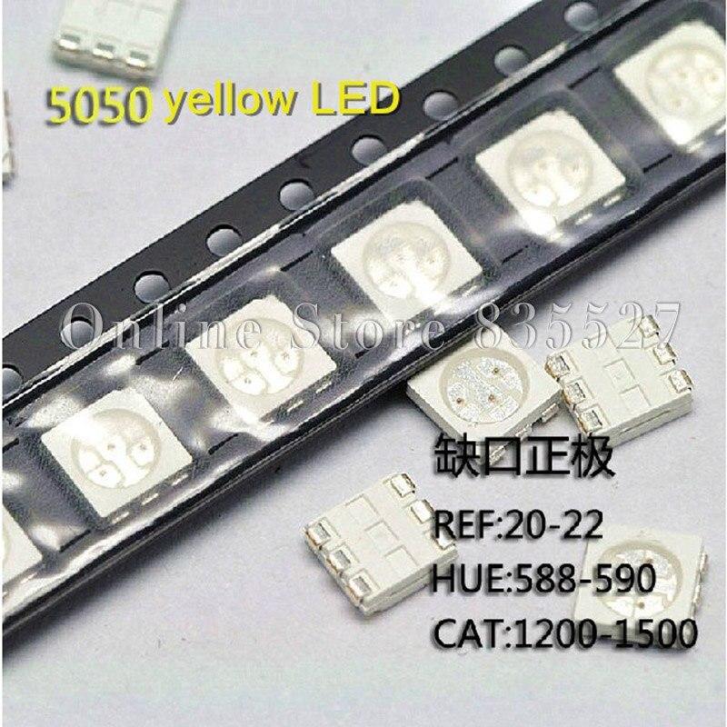 1000 PC/LOTE 5050 SMD LED light-emitting diode destaque amarelo 600-800mcd
