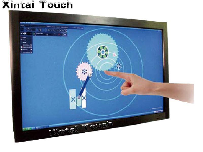 55 بوصة شاشة تعمل باللمس بالأشعة تحت الحمراء لوحة تراكب دون الزجاج للحصول على شاشة تعمل باللمس التفاعلية متعددة ، شاشة تعمل باللمس متعددة