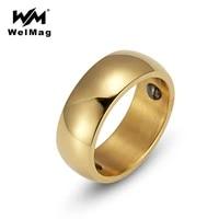 welmag hematite health ring for women trendy stainless steel simple elegant bio energy male ring titanium steel jewelry usa size