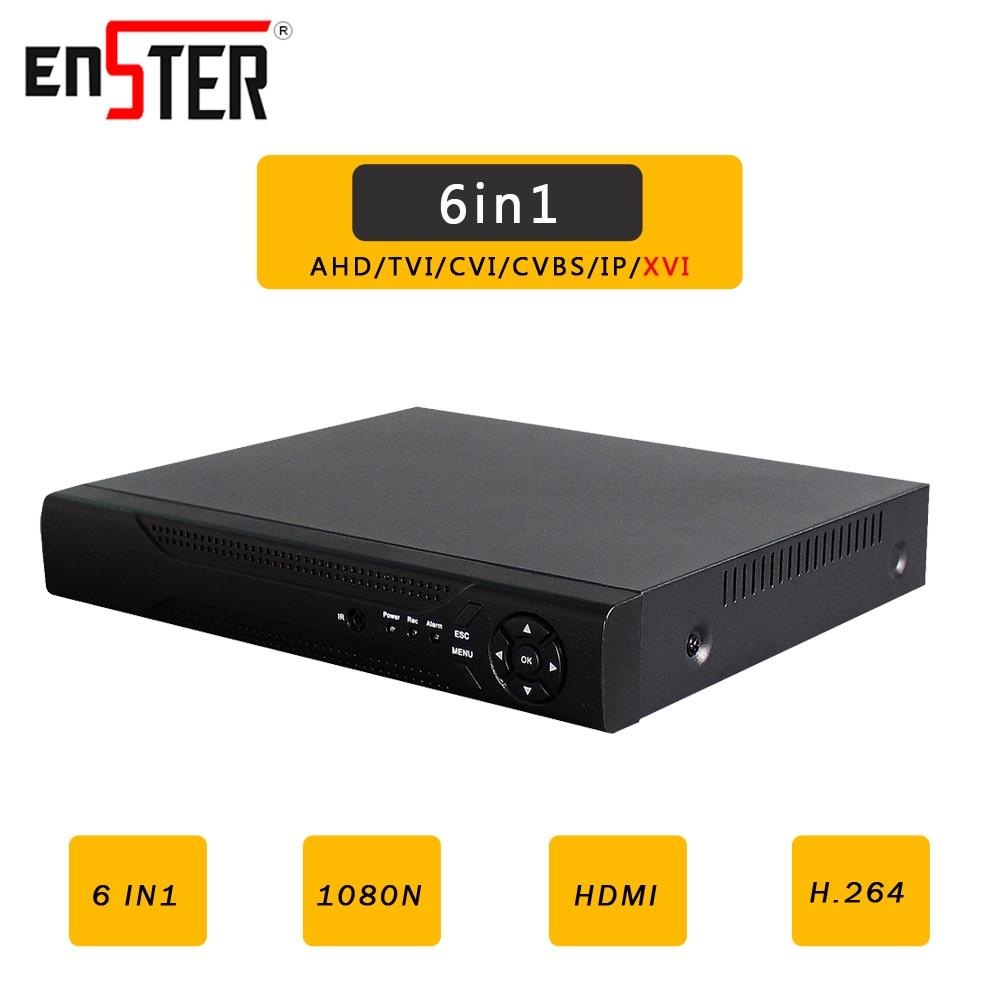 Enster AHD/N DVR 4CH 8CH CCTV AHD DVR Híbrido 6in1 XVR 1080 p NVR Gravador De Vídeo Para AHD câmera IP Câmera Câmera Analógica Câmera CVI