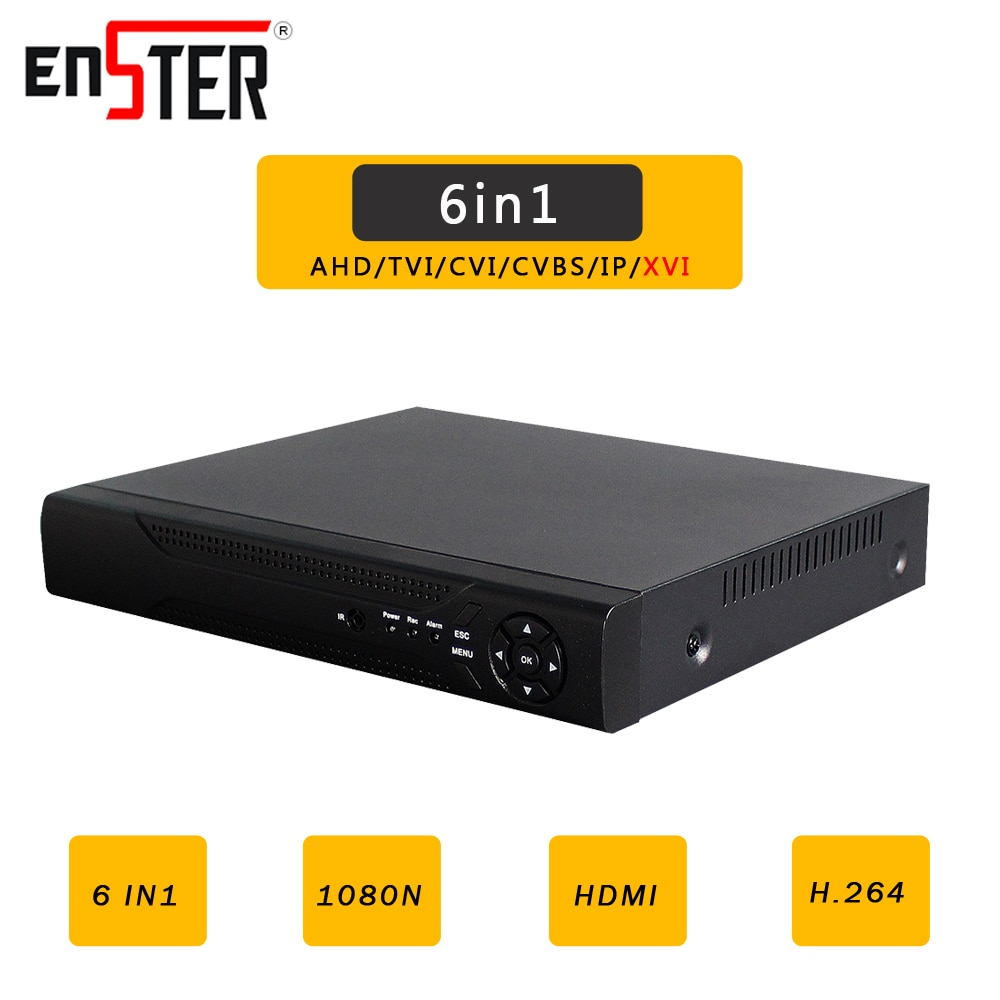 Enster AHD/N DVR 4CH 8CH CCTV AHD DVR híbrida XVR 1080P NVR 6in1 grabadora de vídeo para AHD cámara IP cámara analógica Cámara CVI Cámara