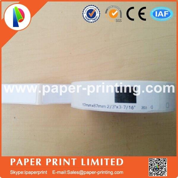Compatible DK-11203 etiqueta 17mm * 87mm 300 Uds Compatible para impresora de etiquetas Brother papel blanco DK11203 DK-1203