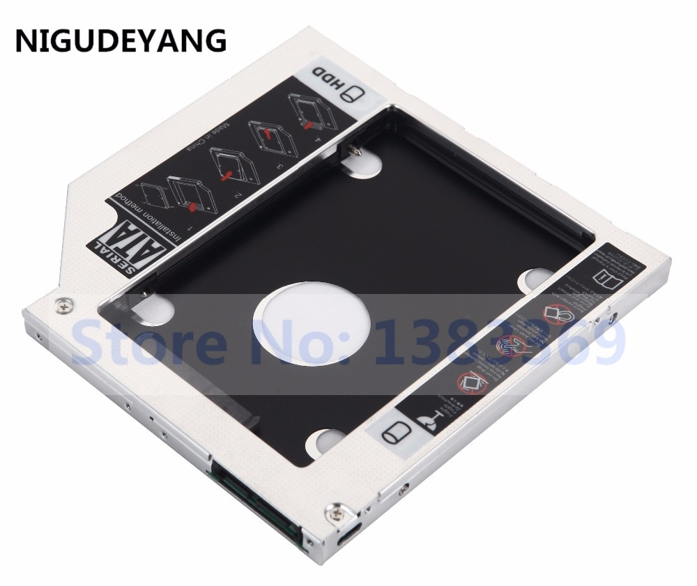 NIGUDEYANG 2nd segundo Ultrabay SATA HDD Disco Duro SSD Caddy para Acer...
