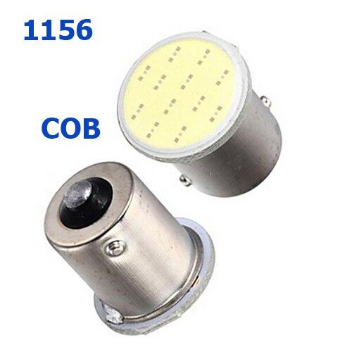 1Pcs Auto LED 1156 BA15S BAU15S COB White Red Yellow 12V 7506 7507 P21W PY21W Car light Brake Turn Tail light signal lamp bulb