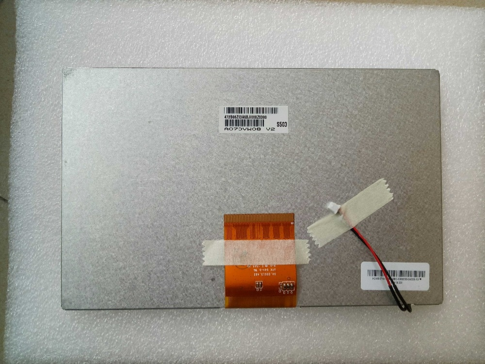 Lute Shi-شاشة سيارة أصلية مقاس 7 بوصات ، نظام ملاحة داخلي مخصص ، طراز A070VW08 V2 ، BYD S6 ، جديد