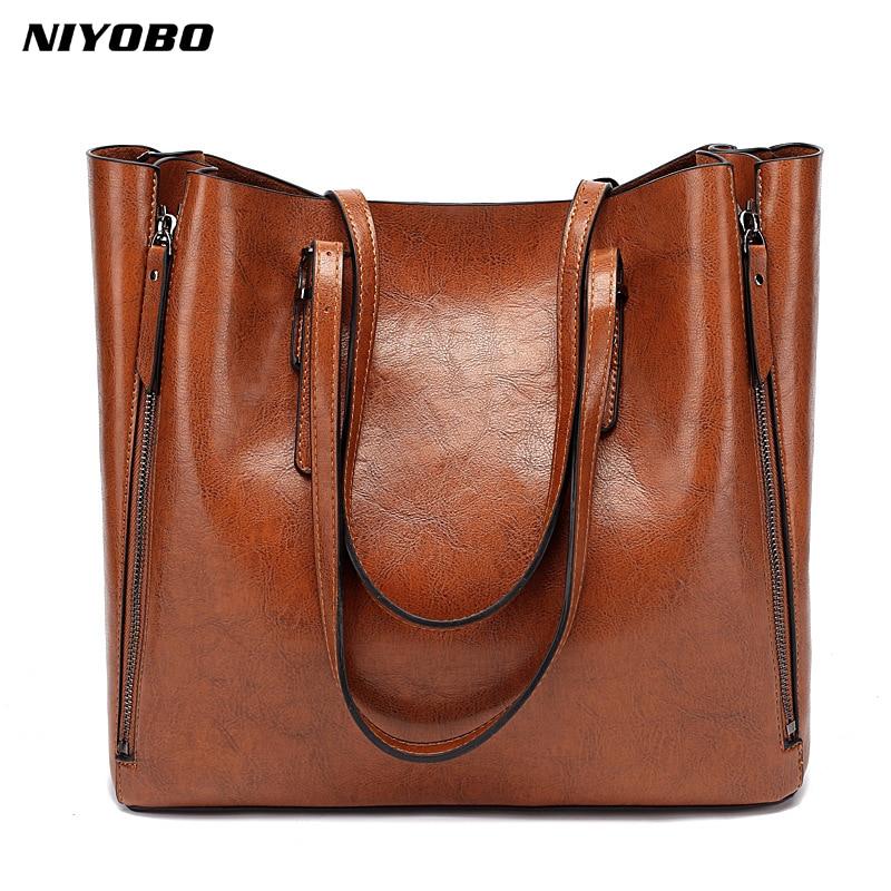 NIYOBO-Bolso de piel sintética de lujo para Mujer, bandolera de hombro de...