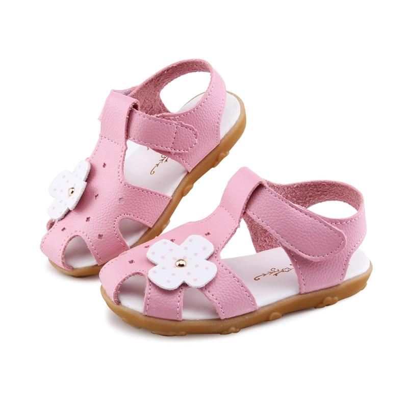 2020 летние сандалии для девочек; Детская обувь для маленьких девочек; Детская пляжная обувь; Сандалии с цветочным принтом; Мягкая стелька 13,5-18 см