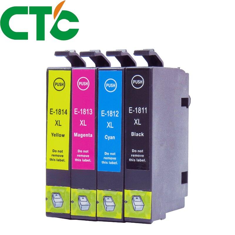 4 Uds 18xl T1811 T1812 cartucho de tinta Compatible para tinta expresión HomeXP-30 XP-102 XP-202 XP-205 XP-302 XP-305 XP-402 XP-405