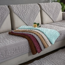 Funda de toalla para sofá con diseño de piedra 3D, funda de tela de felpa gruesa, sofá moderno antideslizante, funda para sofá, alfombrillas de toalla de esquina, 1 Uds.