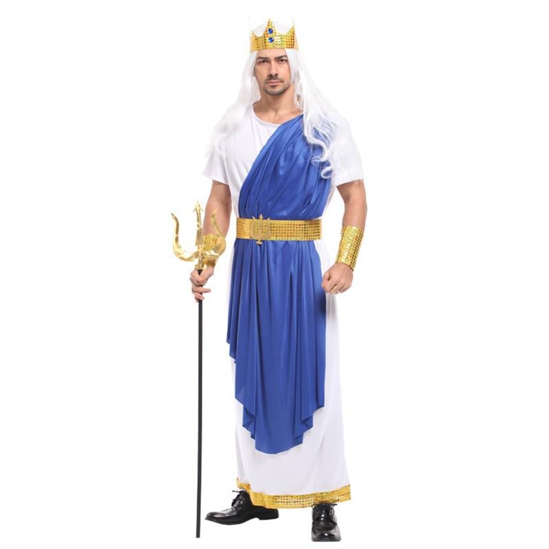 Movie Sea Superman Aquaman Costume Adult Men Sea King Poseidon Costume Halloween Carnival Masquerade Masked Party Fancy Dress Up