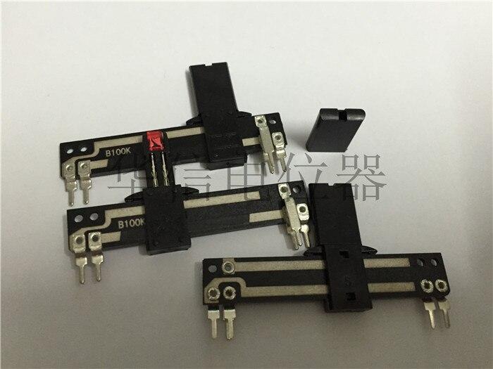 1 pçs/lote SC-308 b100k direto tuning slide potenciômetro frango pé comprimento de 5 cm também com luzes led