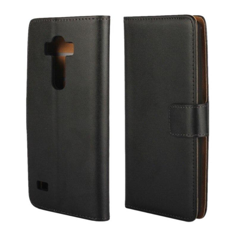 1 piezas envío de la gota de cuero genuino negro ranura atrás cartera caso para LG G4 Beat/G4s con funda portatarjetas de identificación