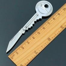 Couteau de poche porte-clés couteau éplucheur Portable Camping porte-clés couteau outil Mini clé couteau clé pliable