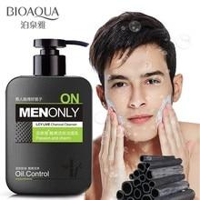 BIOAQUA Men cool live charcoal cleanser skin care Moisturizing oil control firming to blackhead deep clean Face Face care
