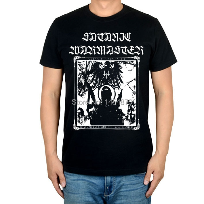 Warrior Soldier Satanic warmaster Rock Brand t shirt High Quality 100%Cotton Punk items fitness Hardrock Metal black shirts XXXL