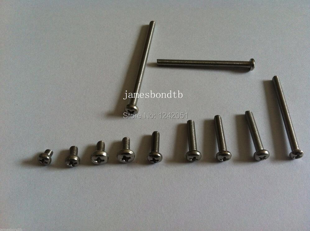 100 piezas métricas M3 * 25mm 304 Acero inoxidable Cruz empotrada tornillos de la cabeza de la sartén