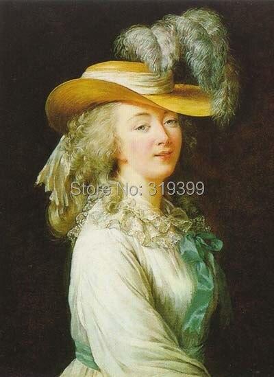 Portrait-of-madame-du-barry-1781 por Louis Elisabeth Vigee Le Brun, pintura al óleo, pintura al óleo hecha a mano, envío gratuito por dhl