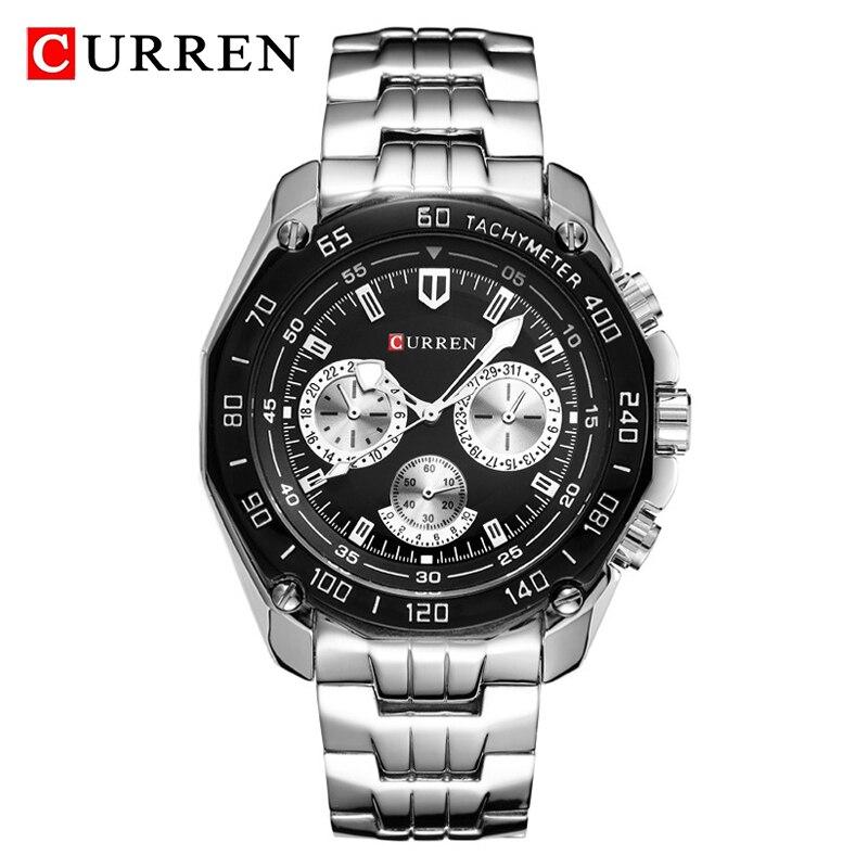CURREN Мужские часы Топ бренд класса люкс армейские военные кварцевые часы мужские спортивные водонепроницаемые наручные часы Мужские часы ...