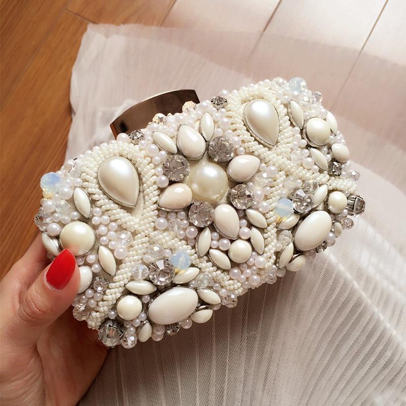 Pequeño fresco nuevo personalizado Mori bolsas de mano diamante cena bolsa damas desnudo vestido de fiesta bolsa